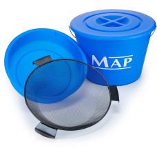 Комплект MAP Bucket Set ( ведро 25л , емкость для прикормки,сито,крышка)