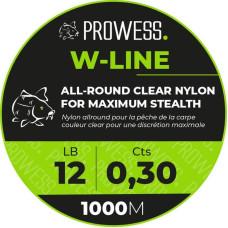 Леска Prowess W-LINE 0,25mm 8.5lb 1000m CLEAR PRCLJ4001-25-CLEAR