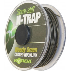 Поводочный материал Korda N Trap 15lb Weedy Green Soft KNT01